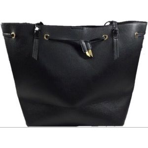 Foley + Corinna | black vegan leather tote purse